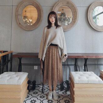 [全店免運] 港風bling鑽石絨網紗半身裙 長裙 / 樂天時尚館