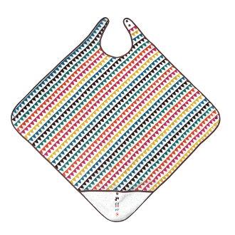 日本Hoppetta BOBO 幾何圖騰 嬰兒浴巾 包巾 幾合圖騰洗澡浴巾圍裙