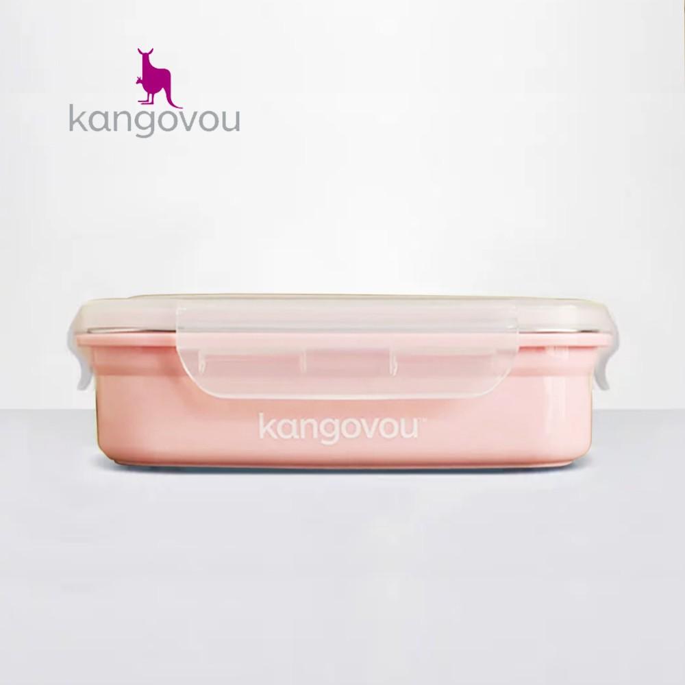 【kangovou】美國小袋鼠不鏽鋼安全 寶寶餐盒-珊瑚粉 0