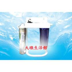【大墩生活館】Everpure(美國原廠)H104/H-104二道腳架型淨水系統,搭配1道NSF前置pp+H-104濾心,含全套配件,NSF-ISO認證。