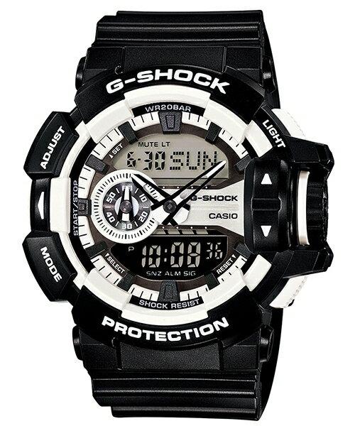 國外代購 CASIO G-SHOCK GA-400-1A 雙顯 大錶面 運動防水手錶腕錶電子錶男女錶 酷黑太極