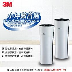 【3M】淨呼吸4坪淨巧型空氣清淨機(超值二入組)