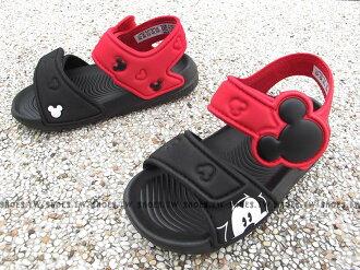 Shoestw【BA9303】ADIDAS 童鞋 涼鞋 小童 AKWAH 9 K 迪士尼 米奇 黑紅