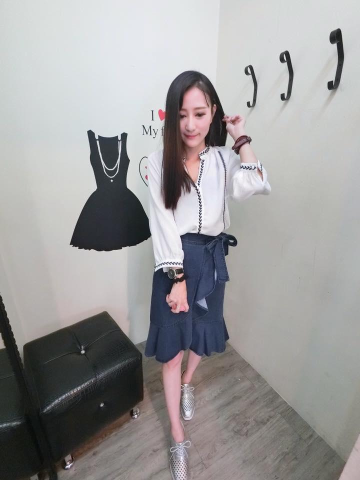 正韓魚尾及膝牛仔裙(現/預) 3