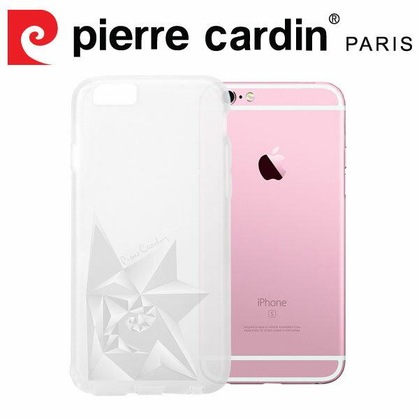 [ iPhone6/6s Plus ] Pierre Cardin法國皮爾卡登3D立體玫瑰TPU透明手機殼 透明色
