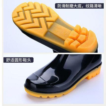 雨鞋男 水鞋雨鞋男女士勞保防汗濕腳臭高筒雨鞋防水防滑牛津塑膠雨靴水鞋『SS1929』