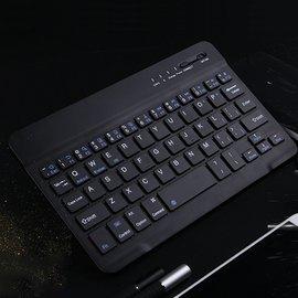 7/8吋手機平板通用藍牙鍵盤 ipad平板鍵盤 迷你藍牙無線鍵盤  三系統通用 附贈注音貼紙