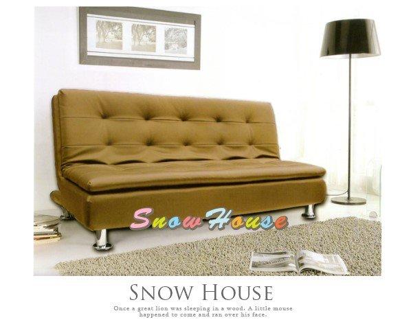 ╭☆雪之屋居家生活館☆╯@AA486-01美式風格三線護背沙發床(咖啡)造型沙發雙人沙發三人沙發坐臥床