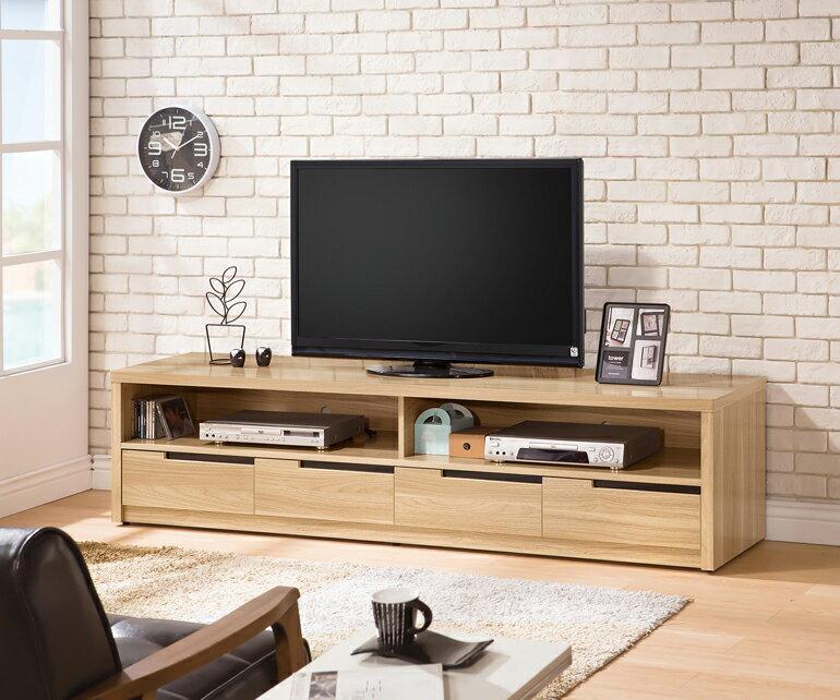 【九日木作】卡妮亞6.5尺電視櫃(E)