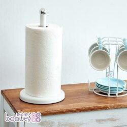 【ikloo宜酷屋】簡約桌上型紙巾架 (氣質白)