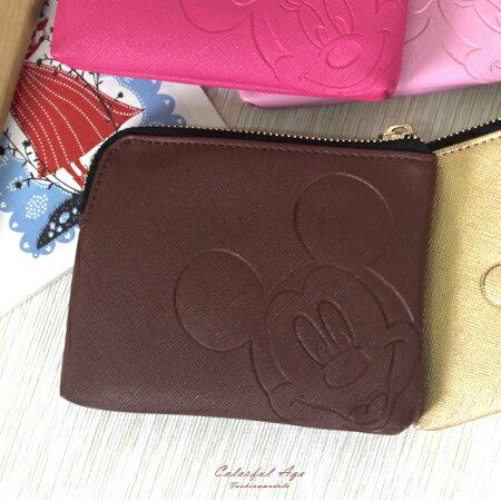 零錢包 正版迪士尼Disney系列收納包/卡夾包/短夾 米老鼠/維尼/史迪奇 柒彩年代【NS1】多款圖案 - 限時優惠好康折扣