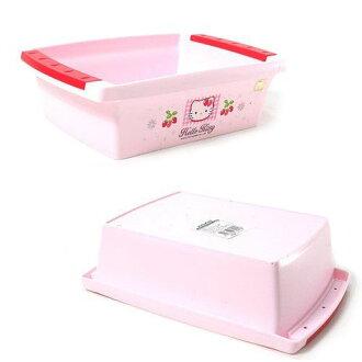 【真愛日本】16071300010置物盤M-KT草莓 三麗鷗 Hello Kitty 凱蒂貓 收納籃 置物籃