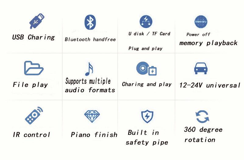 LCD Car Kit Bluetooth MP3 Player FM Transmitter Modulator MMC USB Remote  Blue/Red/Green light