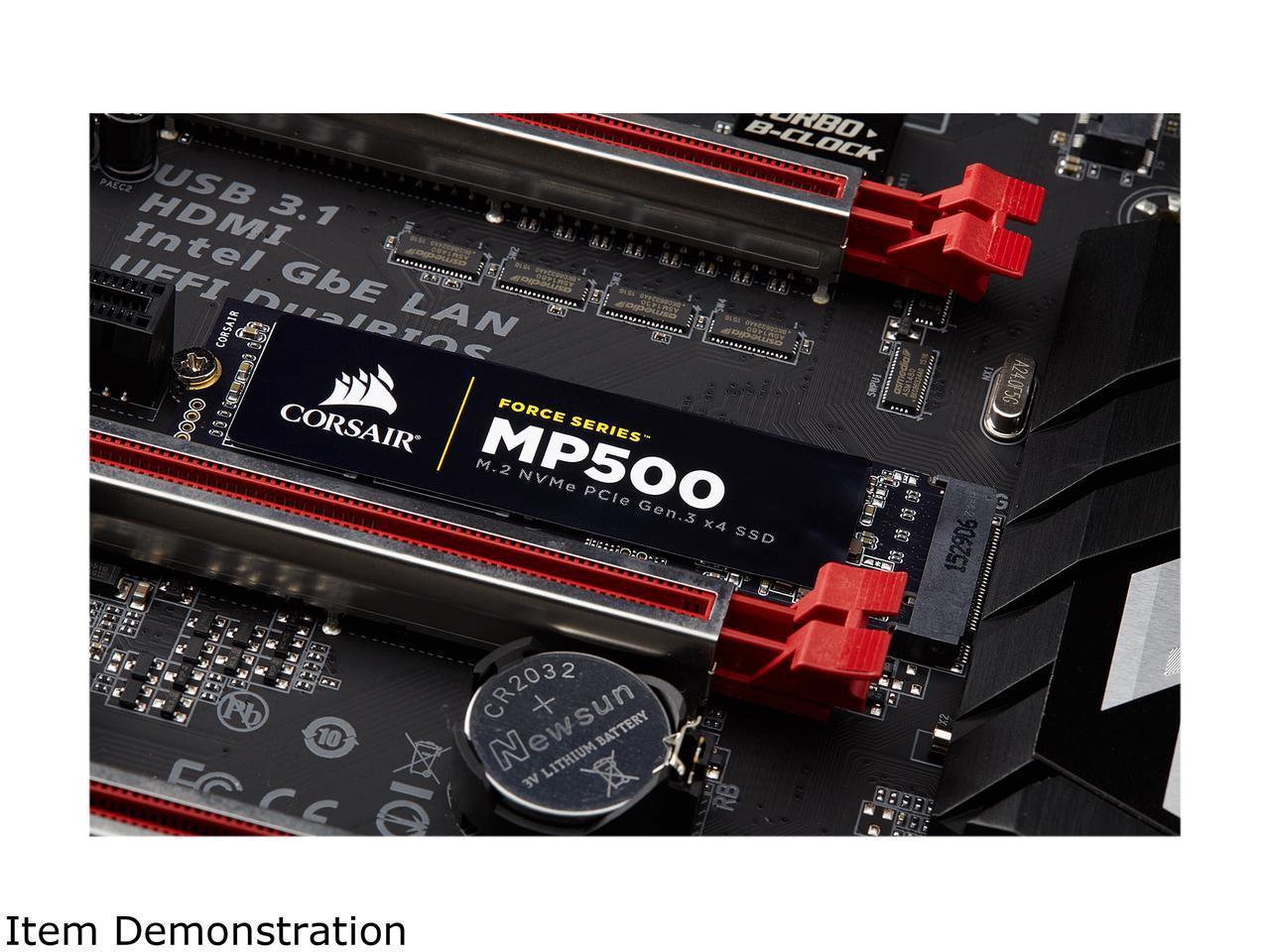 Corsair SSD Force Series MP500 M.2 2280 240GB NVMe PCI-Express 3.0 x4 MLC 240G PCIe Gen. 3 Internal Solid State Drive CSSD-F240GBMP500 3