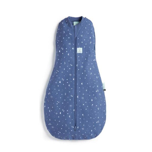 【全品牌任兩件贈三角圍兜】ergoPouch ergoCocoon 二合一舒眠包巾 0.2T(0~12m)星空藍-懶人包巾