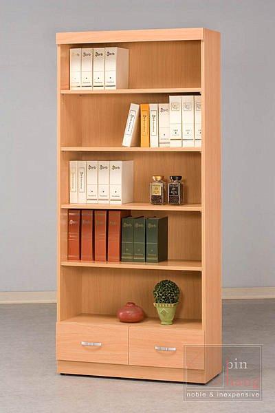 【尚品家具】CF-520 山毛櫸 2.7 尺 二抽 書櫃