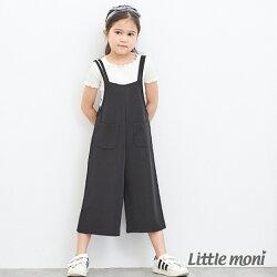 Little moni 吊帶連身褲-黑色