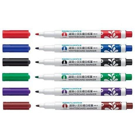 WB-15雄獅小支彩繪酒精性白板筆