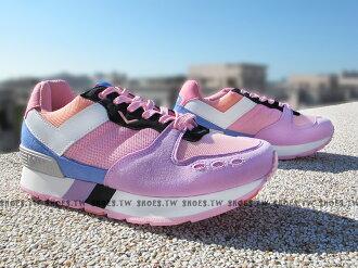 《超值990》Shoestw【53W1YK67PK】PONY YORK 復古慢跑鞋 內增高 紫桃紅 增高鞋
