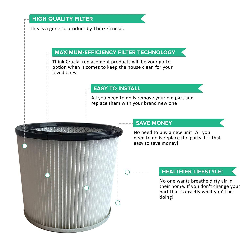 Shop-Vac Filter Cartridge Fits Wet & Dry Vacs | Part # 90304, 9039800 &  88-2340-02