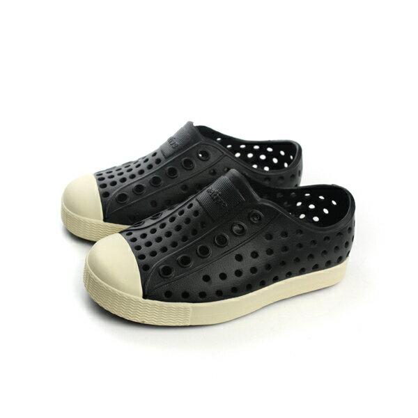 native 洞洞鞋 黑色 童鞋 小童 13100100-1100 no307