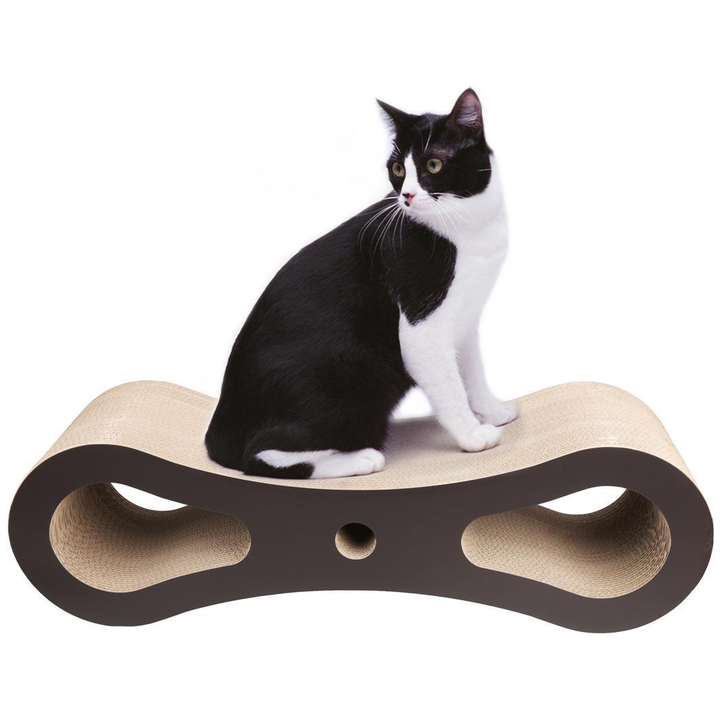 Cat Scratcher Lounge Bed Corrugated Cardboard 0
