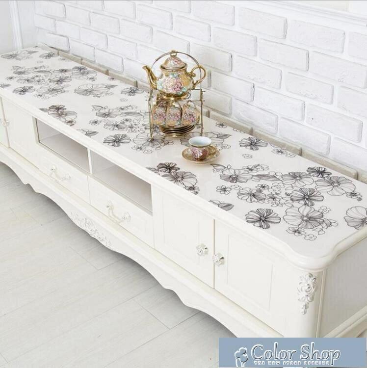 電視櫃墊子PVC桌布防水茶幾墊軟塑料玻璃透明pvc水晶板墊