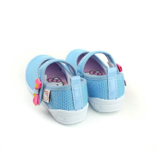 Hello Kitty 凱蒂貓 娃娃鞋 網布 水藍 中童 童鞋 718622 no759 1