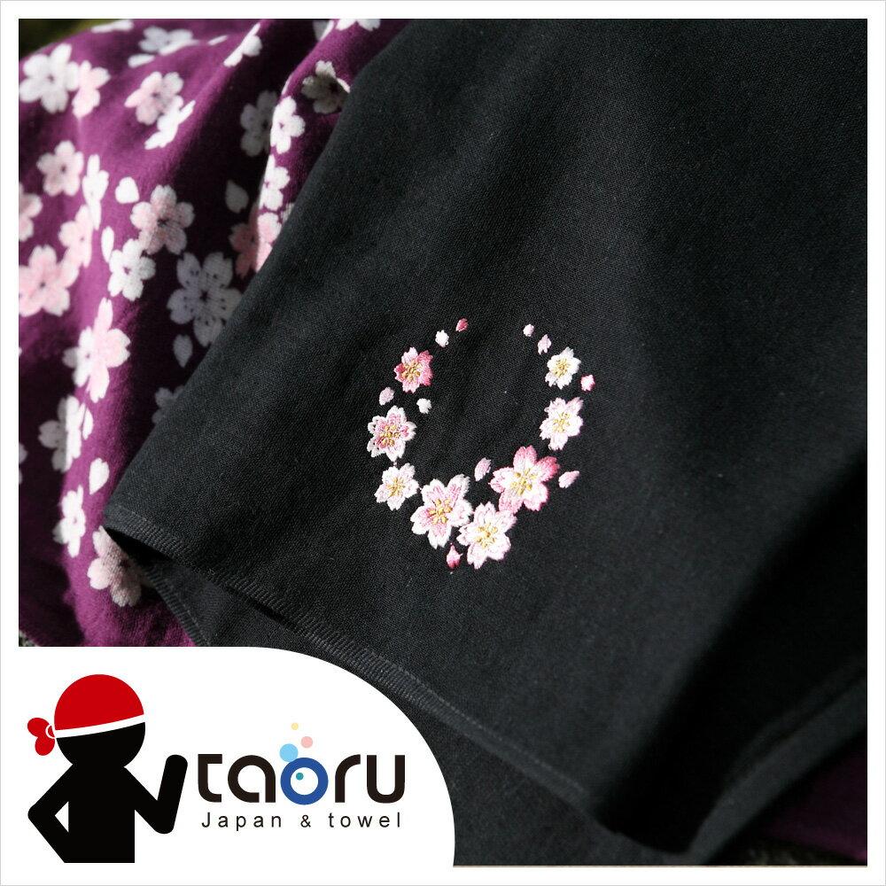 日本運動毛巾 : 櫻吹雪 (繡花) 34*95 cm (長毛巾 頭巾 運動巾 -- taoru 日本毛巾)