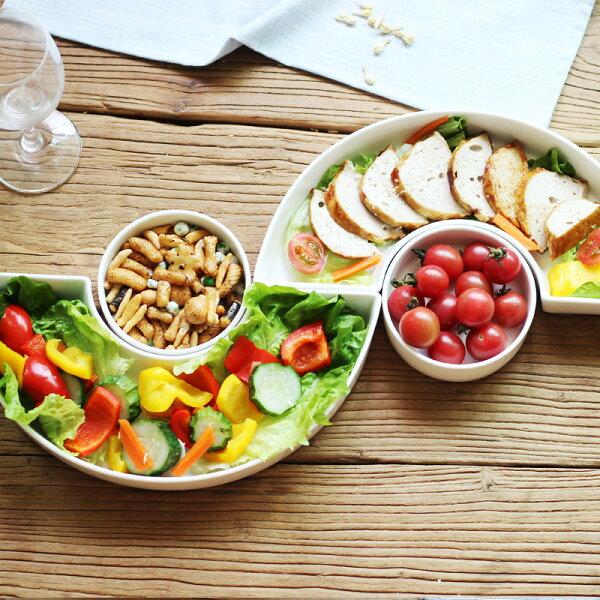 麻吉小舖:居家北歐風多格組合拼盤套裝沙拉盤小吃碟點心拼盤水果盤