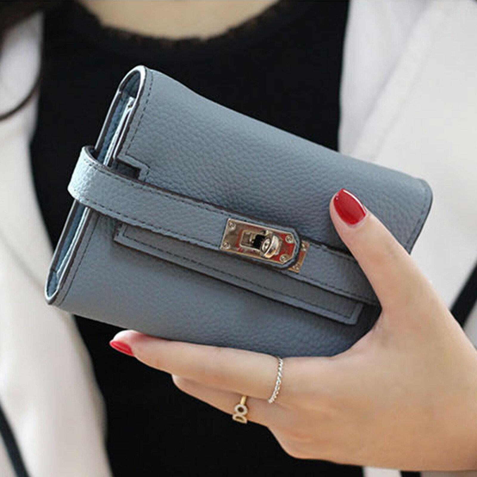 皮夾 錢包 紐扣三層零錢中夾短夾【O3218】☆雙兒網☆ 3