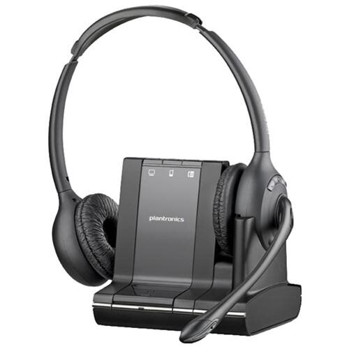 Plantronics Savi W720 Headset - Stereo - Wireless - DECT - 393.7 ft - Over-the-head - Binaural - Semi-open - Noise Cancelling Microphone 0