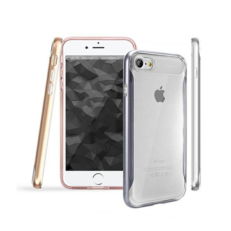 韓款 BS. Apple iPhone 7 7 Plus 鉑士系列金屬邊框TPU保護殼 軟