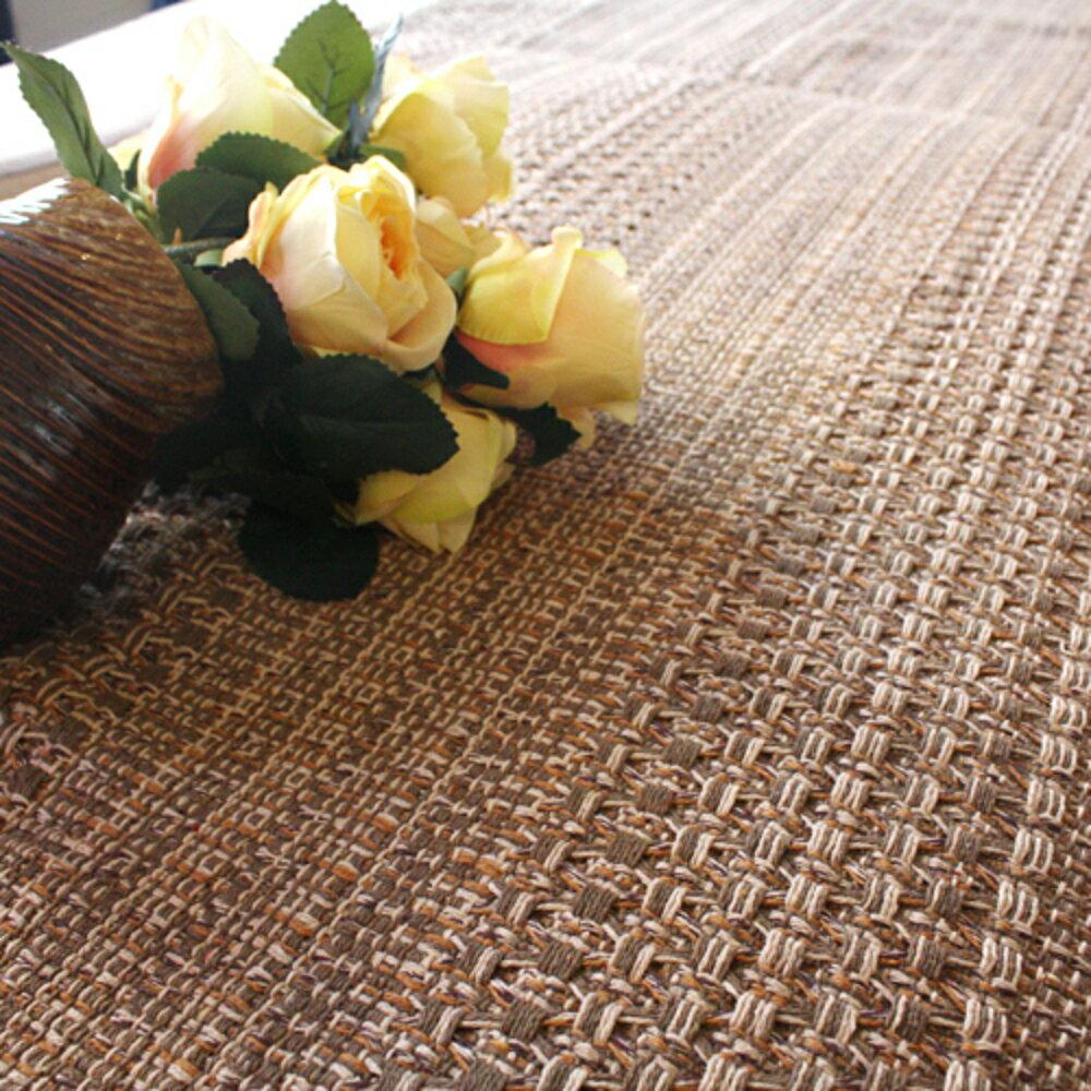 ✤宜家✤時尚舒適簡約純棉咖色防滑手工沙發墊/沙發巾( 大)