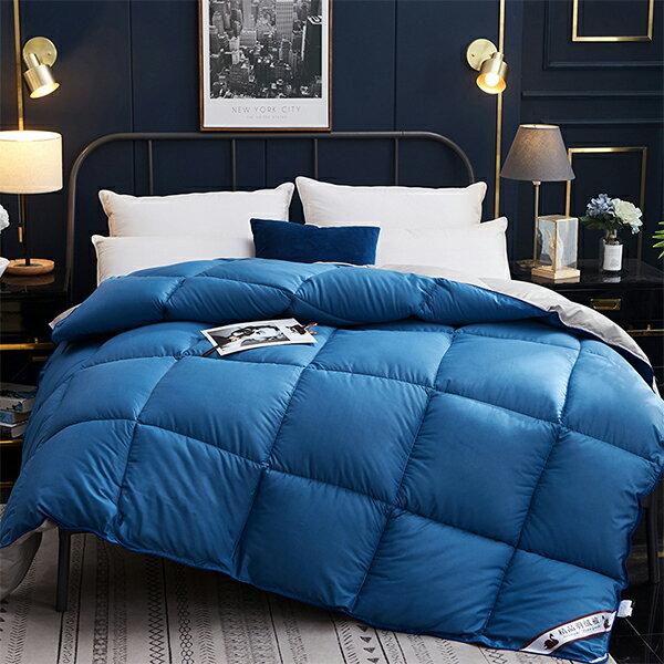 冬天保暖被 單人/雙人 白鵝羽絨被【亮藍色】極致柔軟/床包  J HOME+就是家 樂天2020