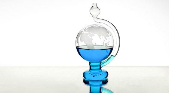 賽先生科學工廠|玻璃氣壓球(晴雨儀)-世界地圖版