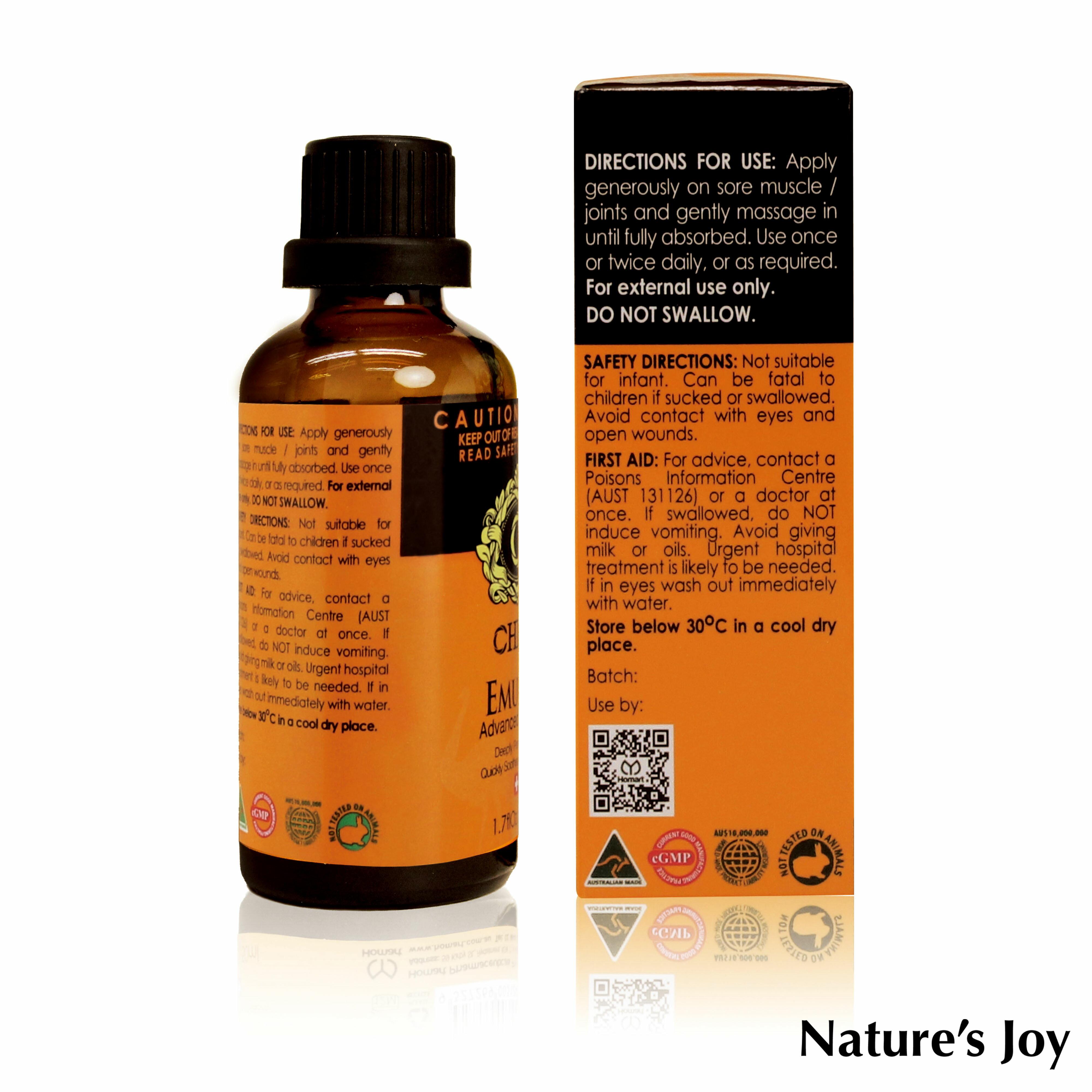 Nature's Joy 澳洲強效鴯鶓精油 / 澳洲維骨力 外用 / 澳洲原裝 / 推拿大師 / 舒緩精油 / 按摩油 2