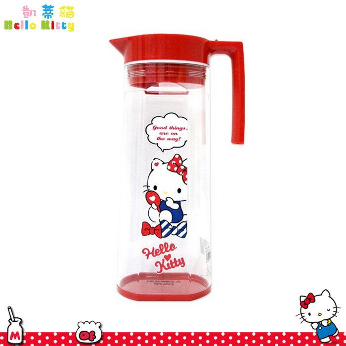 大田倉  凱蒂貓 Hello Kitty 塑膠冷水壼 1.5L 透明水瓶 水瓶 水罐 10