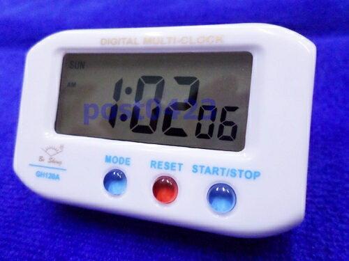 【小工人】六位多功能GH120A迷你電子定時器 廚房倒計時器整點提醒器貪睡鬧鐘 背光燈顯示