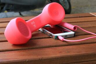 coco復古創意聽筒 防輻射手機聽筒 外接手機電話聽筒 可調節音量手機聽筒 馬卡龍色 多色【Parade.3C派瑞德】