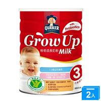 桂格GROW UP成長奶粉三益菌1500g*2【愛買】 0