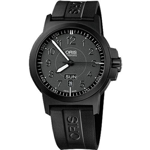 ORIS 豪利時0173576414764-0742205B BC3雙日曆機械腕錶 / 黑面42mm - 限時優惠好康折扣
