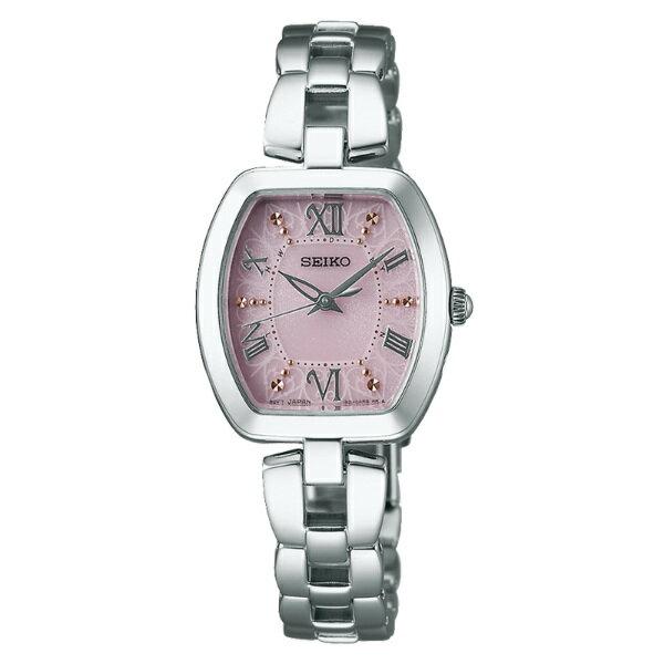 Seiko Vivace 1B21-0AH0P(SWFH033J)愛戀粉紅太陽能電波腕錶/粉紅面26*25mm