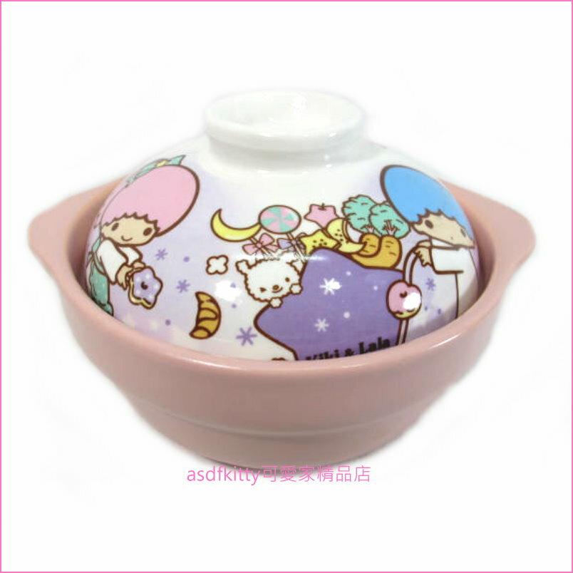 asdfkitty可愛家☆雙子星有蓋陶瓷砂鍋-1人份-香港正版商品