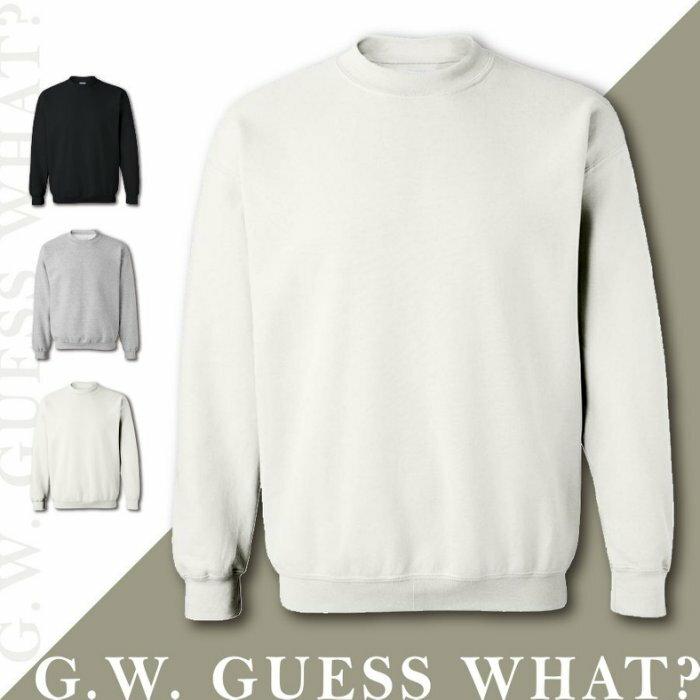 G.W. ~素面大學T ~ 高磅刷毛長袖T恤英式休閒 男女上衣 日系 情侶款潮流 百搭 另
