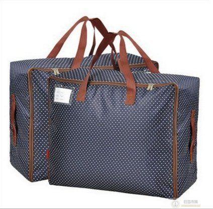 600D大號【點點手提棉被收納袋】 購物袋 批貨袋 托運袋 旅行袋 行李袋 防水牛津布 棉被衣物收納袋 整理袋 搬家袋【狂麥市集】