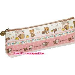 【真愛日本】16101800014防水長方筆袋-RK友情萬歲   SAN-X 懶熊  奶熊 拉拉熊  鉛筆袋 收納袋
