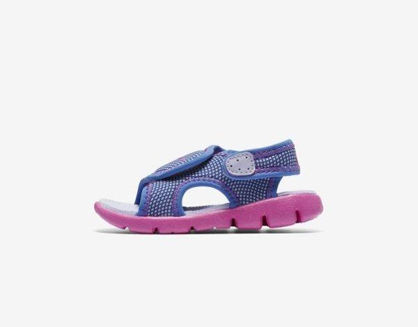 NIKE SUNRAY ADJUST 4 童鞋 小童 涼鞋 休閒 舒適 藍 紫【運動世界】 386521-504