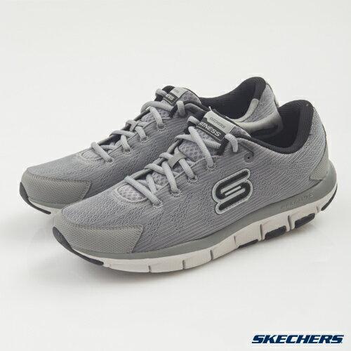 [陽光樂活]  SKECHERS 男 跑步系列 智慧生活 LIV 記憶型泡棉鞋墊 - 999658GYBK(出清75折)