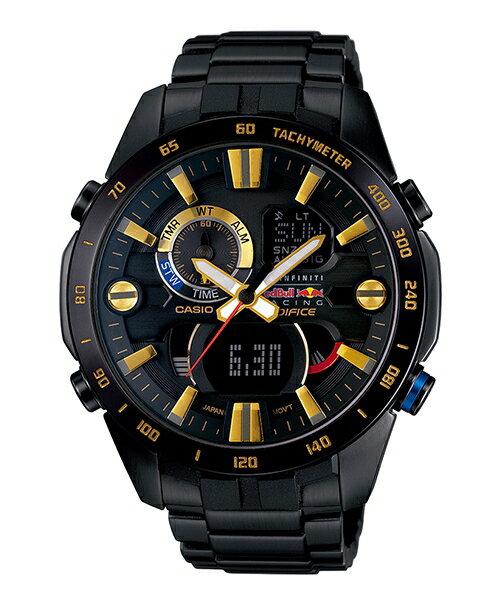 CASIO EDIFICE ERA-201RBK-1A紅牛車魂溫度感應時尚腕錶/黑面47mm